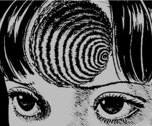 art, black and white, and junji ito image