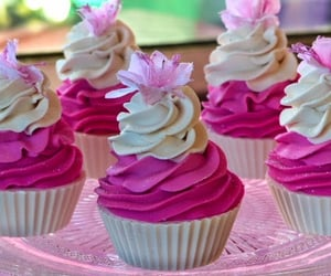 sweet and cupcakes pink food image