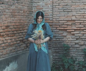 blue, flowers, and iranian image