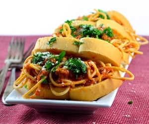 bread, food, and noodles image