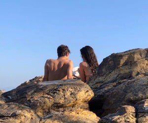 blue, couples, and nature image