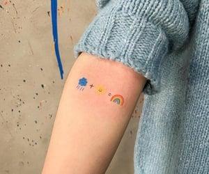 cloud, rainbow, and tattoo image