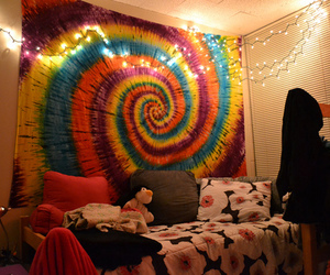 awesome, bed, and colorful image
