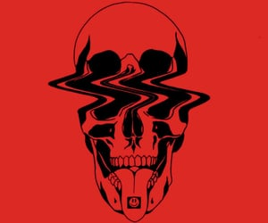 drugs, red, and skull image