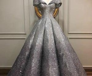 ball gown, clothes, and silver image