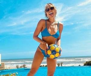 bikini, pool, and danna paola image