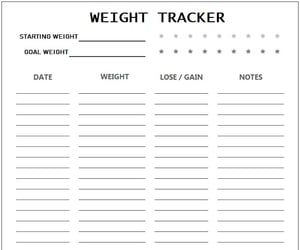 30 day challenge, weight tracker, and weigh loss tracker image