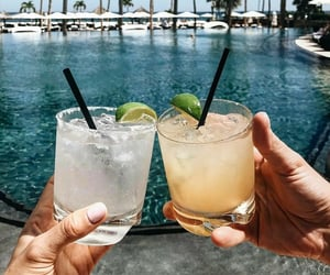 drinks, summer, and tropical image