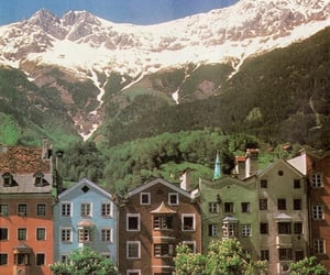 mountains and Houses image