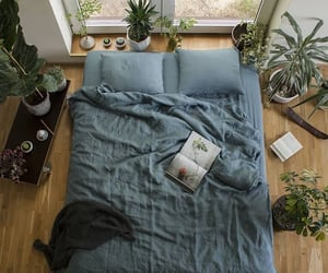 apartment, bedroom, and blue image