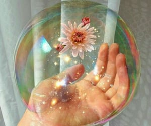 bubbles, aesthetic, and flowers image