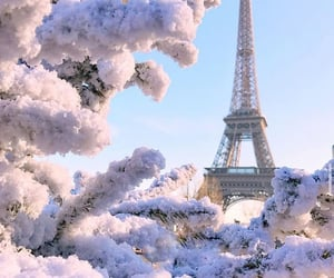 paris, snow, and france image