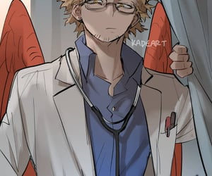 anime, handsome, and hawks image