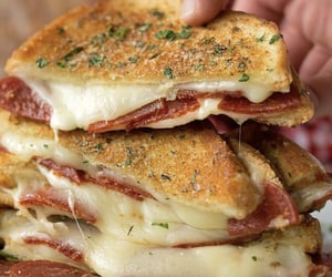 cheese, foodie, and grilled cheese image