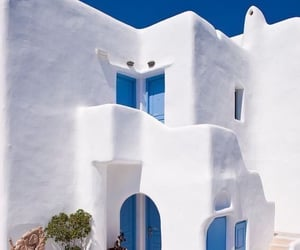 blue, white, and Greece image