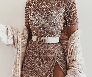 beads, cardigan, and clothes image