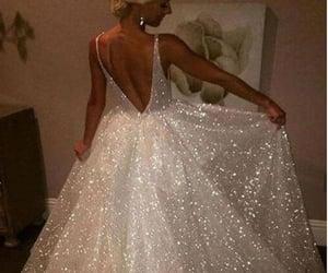 dress, wedding, and glitter image