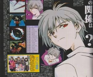 anime, evangelion, and magazine image