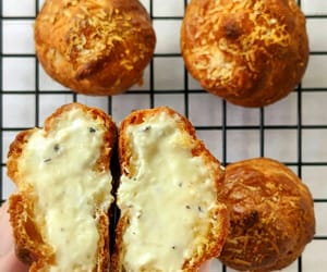 cheese, cream puff, and pastry image