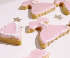 aesthetic, baking, and iced cookies image