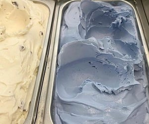 ice cream, blue, and aesthetic image