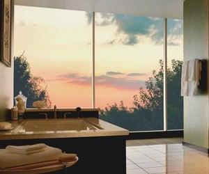 luxury, bathroom, and sunset image