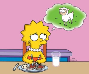 simpsons, vegetarian, and lisa image