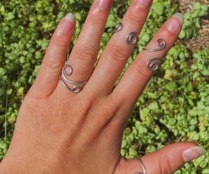 bohemian, indie, and rings image