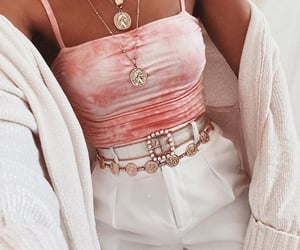beads, pink, and belt image