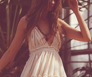 girl, summer, and summer dress image