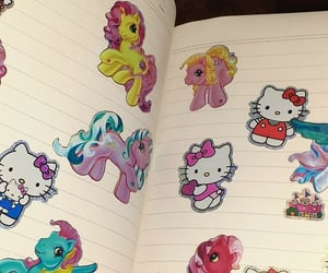 hello kitty, my little pony, and stickers image