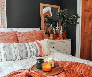 bedroom, interior design, and decor image