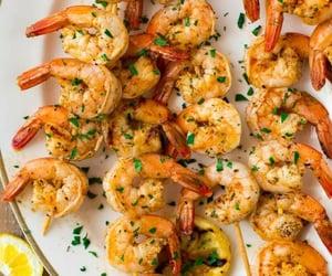 food, lemon, and shrimp image