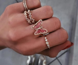 rings, jewelry, and butterfly image