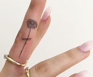 daisy, girl, and tattoo image