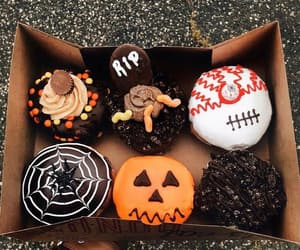 autumn, Halloween, and donuts image