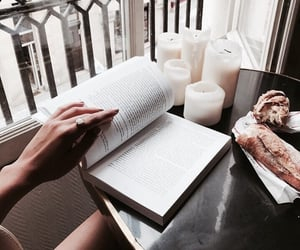 book, reading, and candle image
