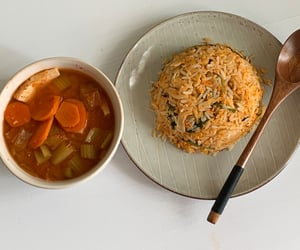 eating, pretty food, and kimchi fried rice image
