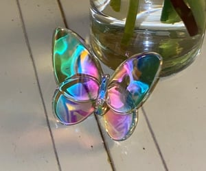 bling, butterfly, and iridescent image