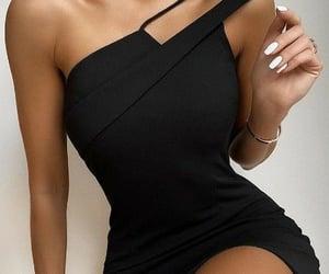 black, dinner, and dress image