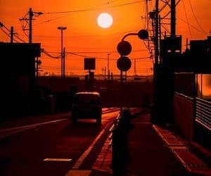 оранжевый, красиво, and солнце image