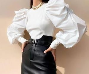 accesories, black, and blouse image