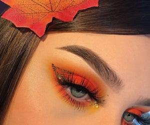 makeup, orange, and eyesshadow image