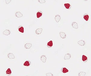 aesthetic, strawberry, and wallpaper image