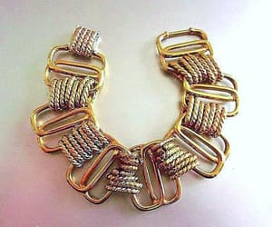 etsy, gold plated, and gold tone bracelet image