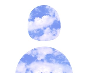 icon, clouds, and blue image