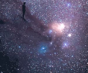 beauty, shadow, and galaxy image