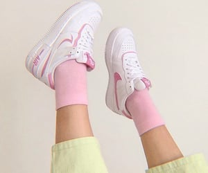green, pink, and shoes image