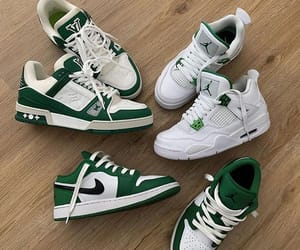 green, nike, and sneakers image