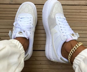 sneakers, beige, and gold image